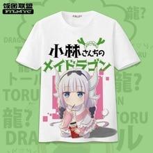 Hot Sale Summer Miss Kobayashi's Dragon Maid T shirt Women Lovely Cartoon Short Sleeve Tops Tee Anime Kobayashi Cool Shirts