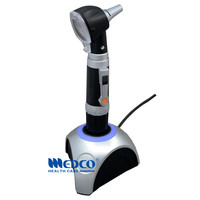 Free shipping Germany quality rechargeable fiber optic otoscope diagnostic kit medical ear care product LED otoscopio