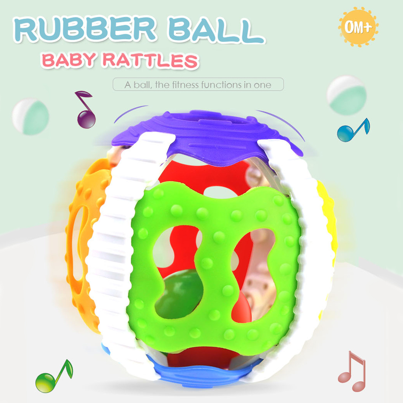 Baby Rattles Ball Hand Bell Baby Toys Soft Hand Catcher Rattle Develop Intelligence Infant Kids Activity Grasping Toys Children#