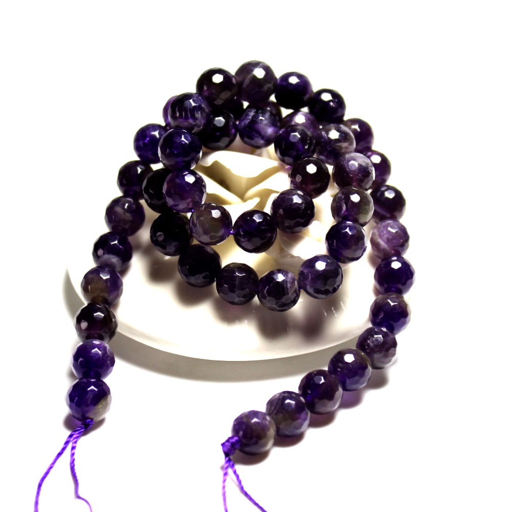 Wholesale AAA+ Faceted Amethysts Deep Purple Natural Stone ...