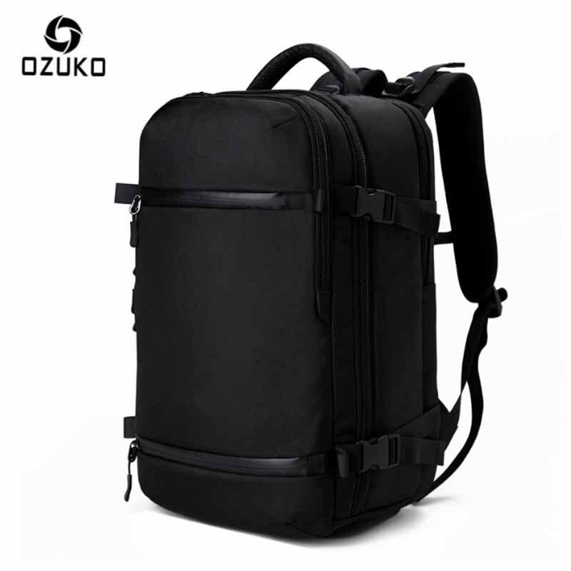 Bagaj ve Çantalar'ten Sırt Çantaları'de OZUKO Sırt Çantası erkek Marka Tasarımcısı 15.6 inç Dizüstü Bilgisayar Büyük Erkek Sırt Çantası Okul gençler için çanta Kadın Su Geçirmez Çanta'da  Grup 1