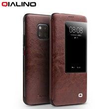 QIALINO Luxe Lederen Smart View Flip Case voor Huawei Mate20 Pro Stijlvolle Handgemaakte Ultra Slim Telefoon Cover voor Mate 20
