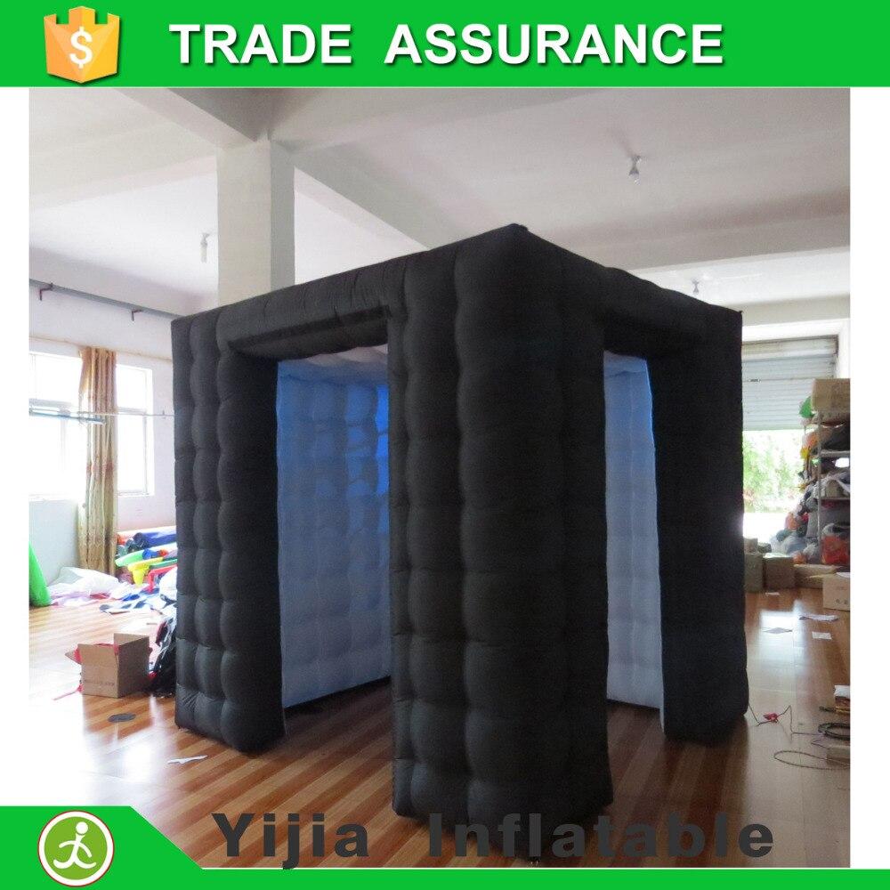 Высокое качество на заказ Свадебная вечеринка надувная фотобудка светодиодная фотобудка палатка