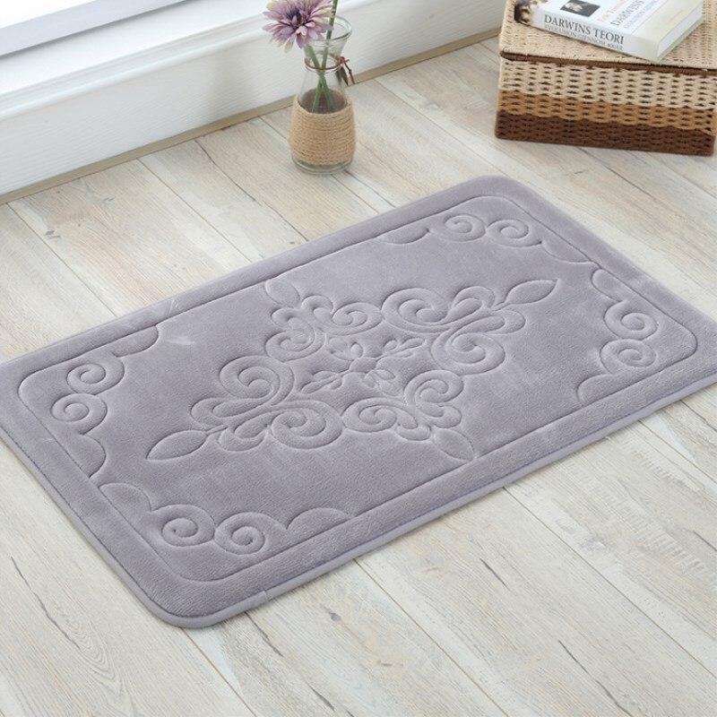 Modern Minimalist Cashmere Bathroom Mat Home Living Room Carpet Mats Into The Door Absorbent Anti-slip