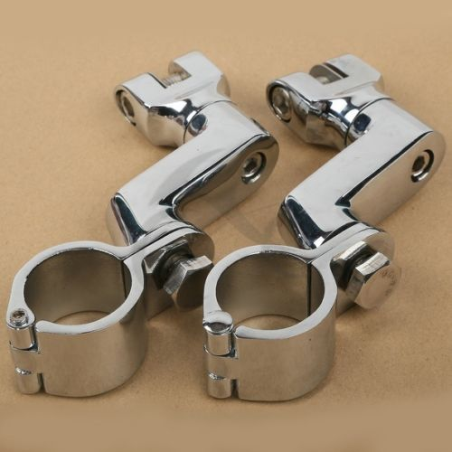 Universal 35mm Front Foot Pegs Rest Clamps Set For Honda Glodwing GL 1800 YAMAHA XV535 XV750