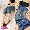 Summer maternity clothing fashion legging jeans capris belly pants maternity pants