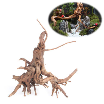 Wood Natural Trunk Driftwood Tree Aquarium Fish Tank Plant Stump Ornament Decor image