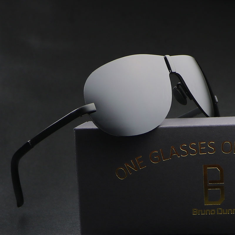 2017 New Rimless font b Fashion b font Cool Sunglasses Men font b Polarized b font