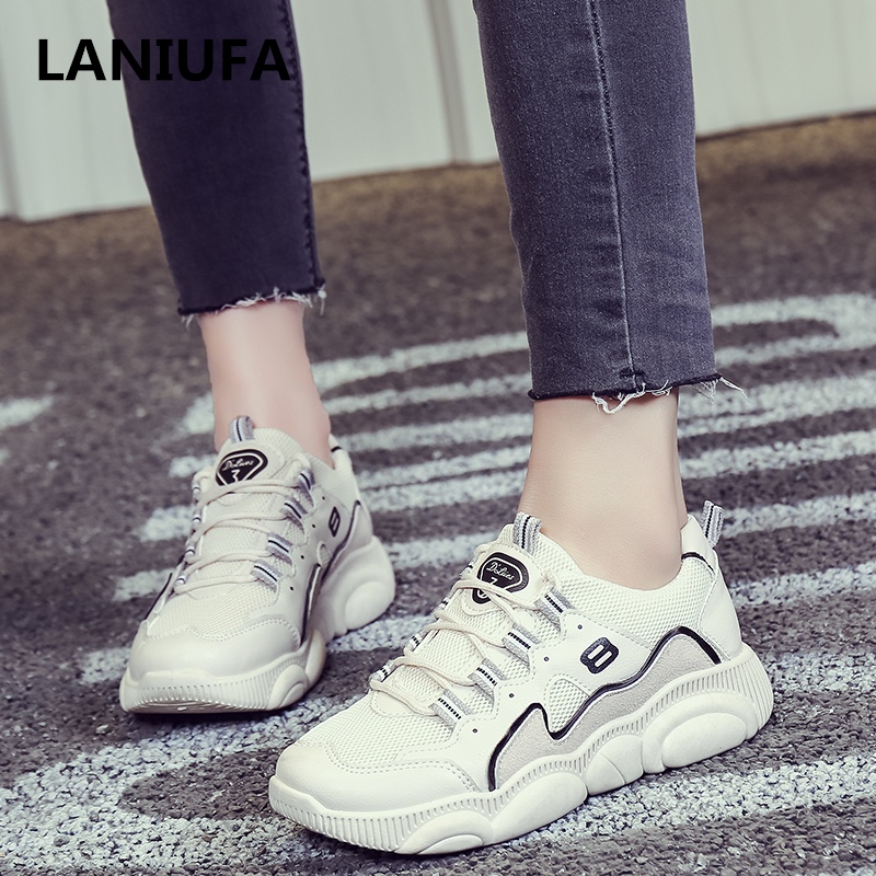 Spring summer time Ladies flats sneakers ladies Spherical Toe Breathable Mesh Lace Up out of doors flats strolling Informal Sneakers ladies zapatos #865 Ladies's Flats, Low-cost Ladies's Flats, Spring...