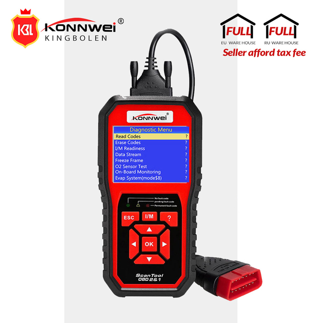 Us 46 42 35 Off Konnwei Kw850 Full Obd2 Car Diagnostics Tool Kw 850 Obdii Auto Scanner Pk Ad410 Nt301 Update Free On Pc With Ru Uk Br Warehouse In