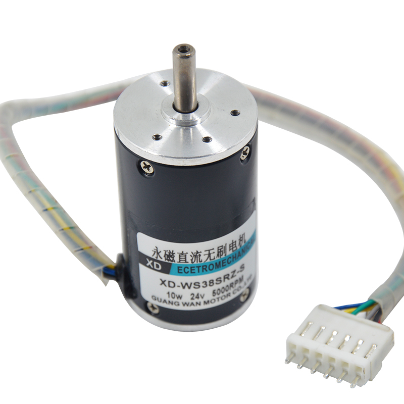 DC 24V/ 12V 10W Permanent Magnet Direct Brushless Motor 2000~5000rpm High Speed Small Motor Positive Reversal Electric Machinery 10 50v 100a 5000w reversible dc motor speed controller pwm control soft start high quality