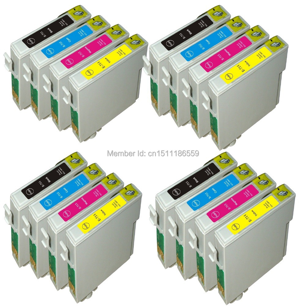 4 Set Compatible Ink Cartridges for Epson stylus SX105 SX115 SX205 SX215 SX415 SX515 SX515W Inkjet Printer