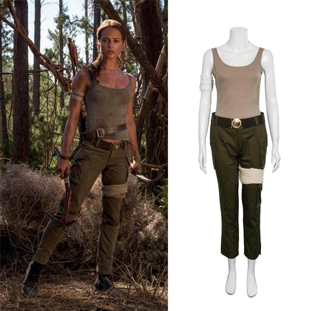 8e2d641a1 Nuevo disfraz de larta Croft Tomb Raider ara Croft disfraz de Halloween  juego de Navidad Cosplay ...