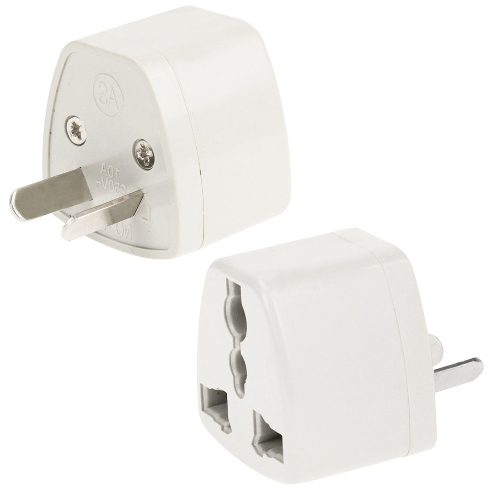 Plug Adapter,Consumer Electronics Plugs& Sockets Plug Adaptor Travel Power Adaptor with AU Socket Plug(White)