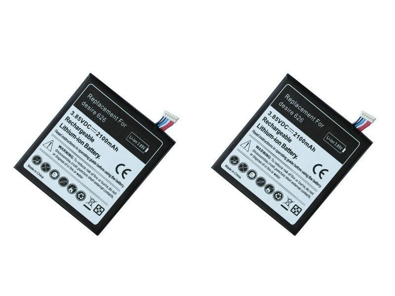 Seasonye 2pcs/lot 2100mAh B0PKX100 / BOPKX100 Replacement Battery For HTC Desire 626 D626W D626T 626G 626S D262W D262D A32