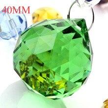 freies verschiffen 40 teilelos 40mm kronleuchter kugeln 40 stcke ringe grne farbe kristall glas ball kristall hngen s - Kronleuchterkugeln