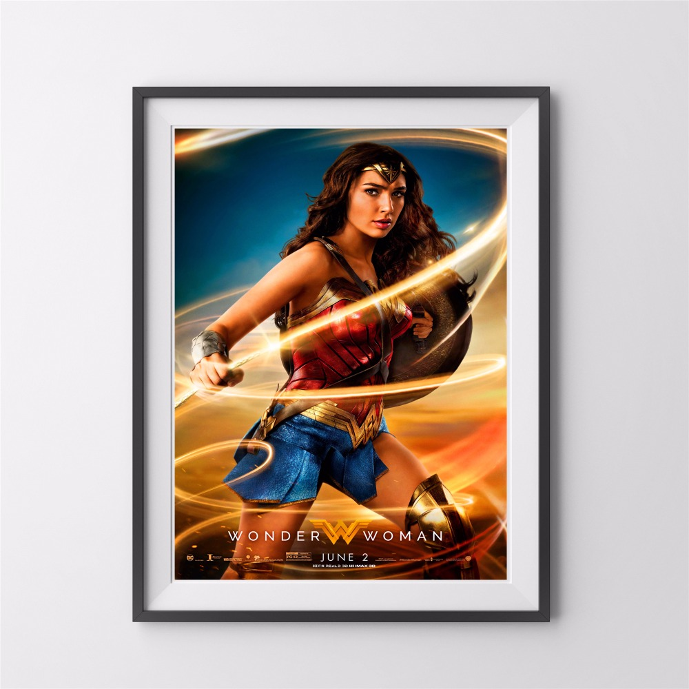 Wonder Woman Wall Art aliexpress : buy wonder woman movie canvas art print painting