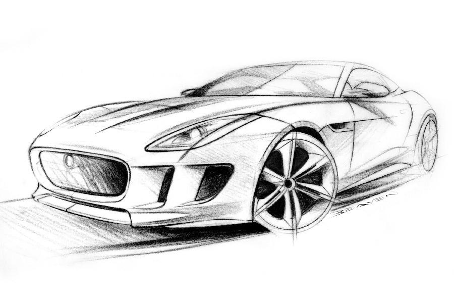 Contoh gambar mobil dengan pensil yang keren diarsir sketsa