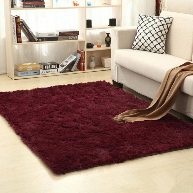 Soft Shaggy Carpet For Living Room European Home Warm Plush Floor Mats Kids Room Faux Fu ...