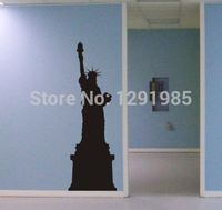 Statue of Liberty Wall Decal mural decor new york Famous Landmarks Removable Wall Decor Decal Sticker Fashion Free Shipping
