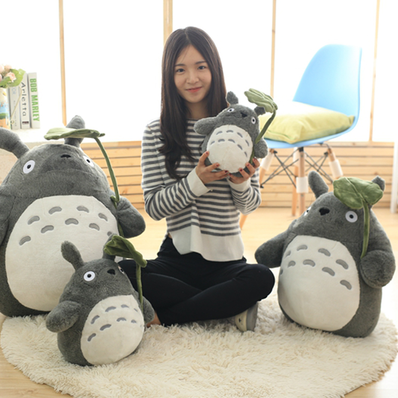 30-70cm Cute Anime Girl Kids Toys Totoro Doll Large Size Soft Pillow Totoro Plush Toy Doll Children Birthday Gift Cartoon Home