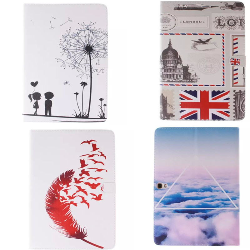 TX  For Samsung Galaxy Tab S 10.5 inch T800 SM-T805 T805C Fashion Cute Painted PU Leather case Stand Function PU Leather Cover аксессуар чехол samsung galaxy tab a 7 sm t285 sm t280 it baggage мультистенд black itssgta74 1