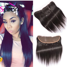 Queen Hair Brazilian Straight Lace Frontal With Baby Hair Ear To Ear Lace Frontal Closure Cheap Full Frontal Lace Closure 13×4