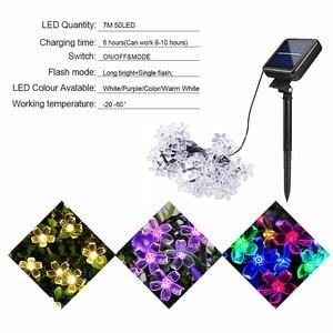 Image 4 - 5m/7m/10m 태양 화환 꽃 꽃대 Led 요정 빛 USB 문자열 조명 웨딩 파티 크리스마스 빛 야외/실내 장식