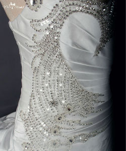 Image 5 - RSW788 Real Sample Photos Satin Ball Gown Wedding Dresses With Beaded Lace Appliques Vestidos de Noiva