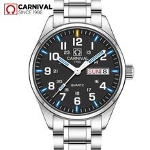 Топ люксовый бренд мужские часы водонепроницаемые Тритий Светящиеся повседневные мужские часы спортивные Relogio Masculino стальной ремешок Авто Дата часы