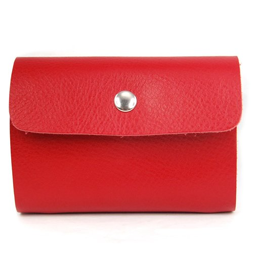 5pcs( Red Premium Leather Wallets Credit Card Holder ID Business Case Purse Unisex