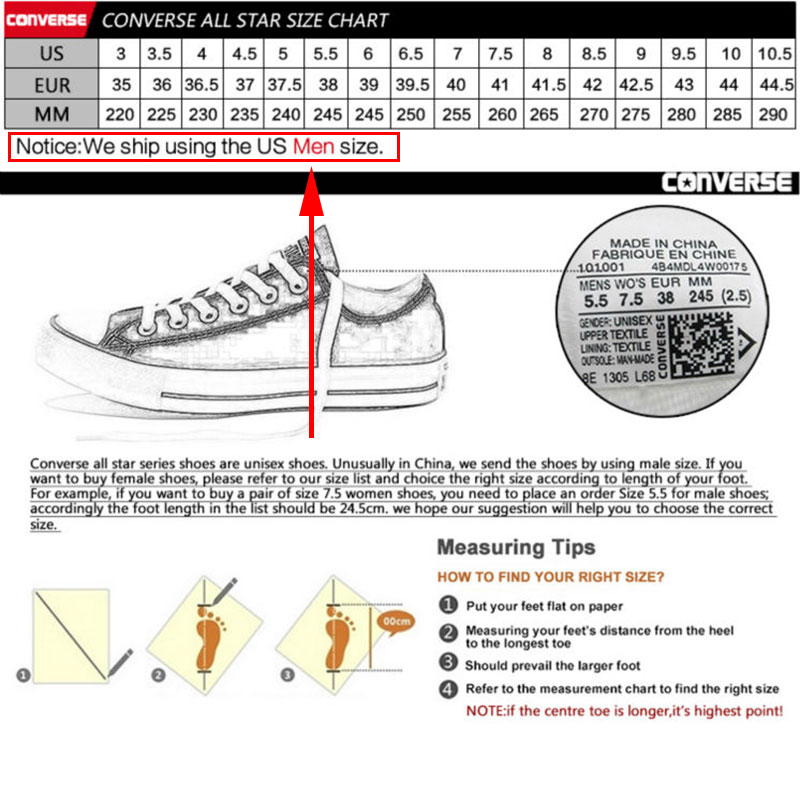 Converse All Star unisexe chaussures de skateboard hommes Sports de plein air décontracté classique toile femmes Anti-glissant baskets chaussures basses - 6