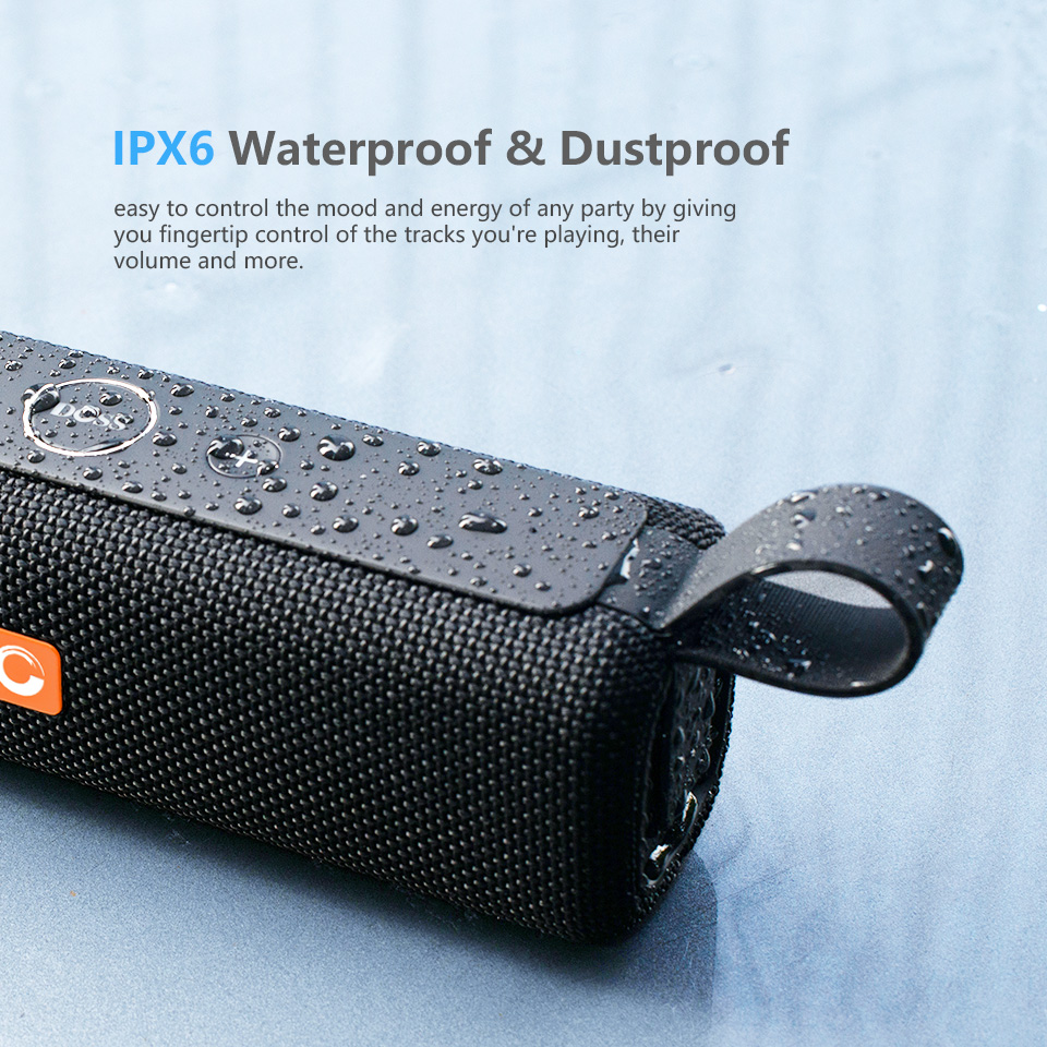 DOSS E-go ll Outdoor Portable Bluetooth Speaker With IPX6 Waterproof Built-In Microphone For PC 3