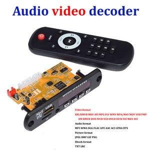 Image 1 - Плата декодера для стереовидео DIY TV BOX RM/RMVB FLAC APE BT электронная книга аудио декодирующий модуль MP3 AUX CVBS DDR2 U диск и TF USB FM