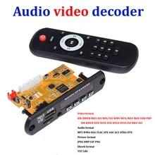 Stereo Video Decoder Board DIY TV BOX RM/RMVB FLAC APE BT eBook Audio Decoding Module MP3 AUX CVBS DDR2 U disk & TF USB FM