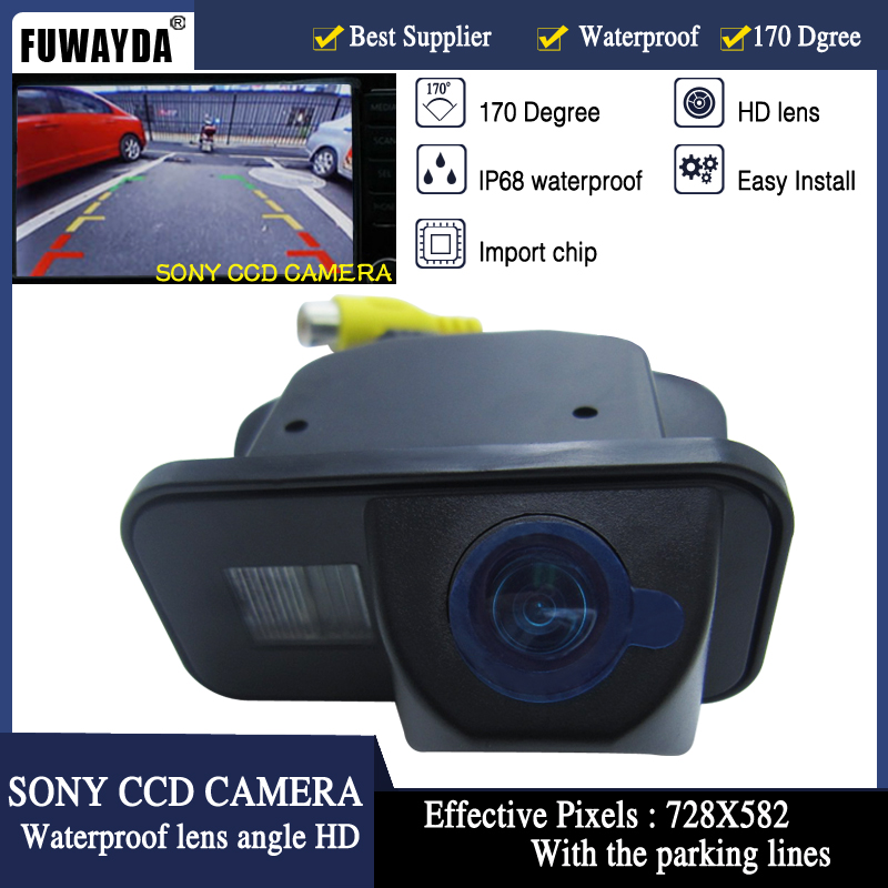 FUWAYDA FOR SONY CCD Car Rear View Reverse Back Up Parking Safety CAMERA for Toyota Vios Corolla Tarago Previa Wish Alphard HD image