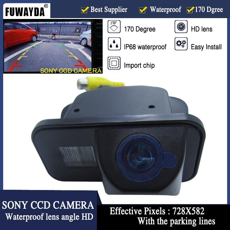 FUWAYDA SONY CCD Car Rear View Reverse Back Up Parking Safety CAMERA For  Toyota Vios Corolla Tarago Previa Wish Alphard HD
