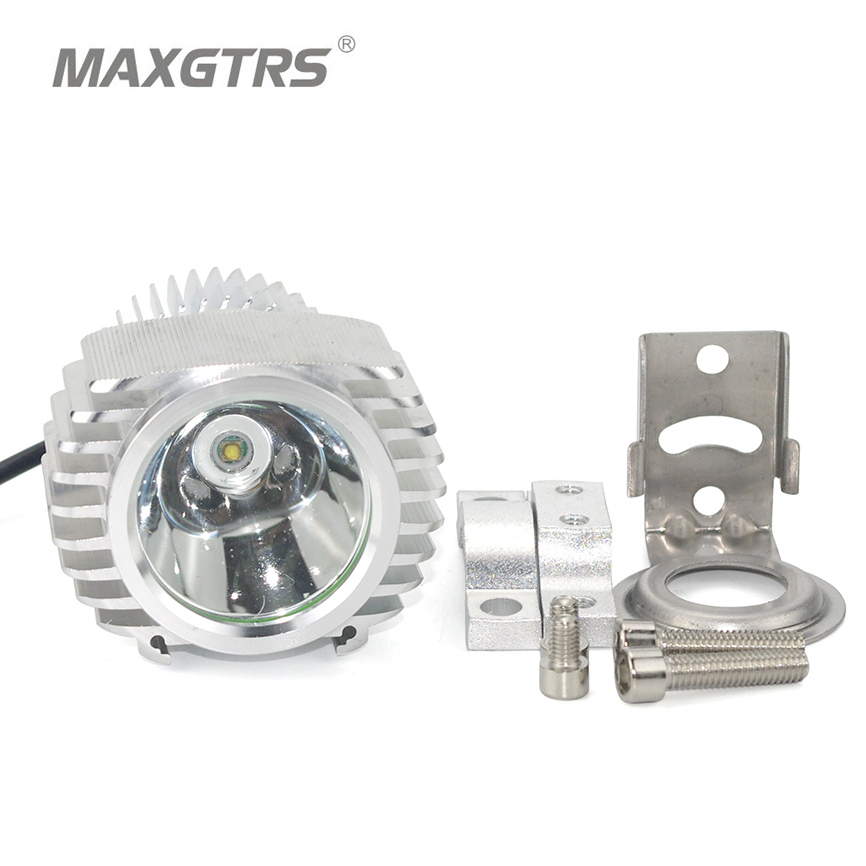 MAXGTRS Official Store Motorcycle CREE Chip Led Car External Built-in Headlight 1800LM 8-85V Fog DRL Spotlight Hunting Driving Work Light Waterproof