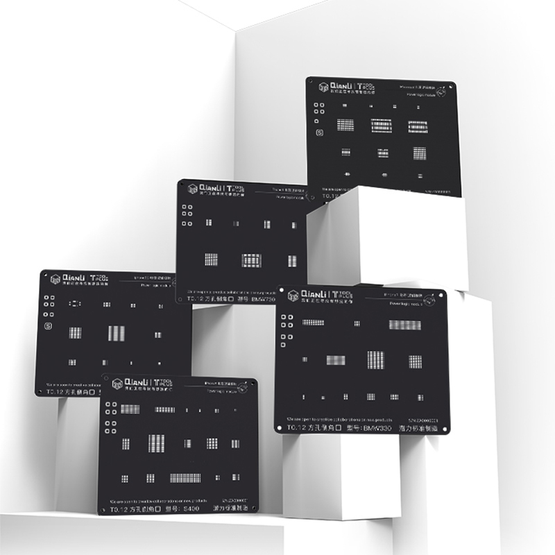 3D Power Logic Module Reballing Stencil Square Hole Black Planting  Tin Steel Mesh For IPhone 5S 6 6S 7 8 Herramientas