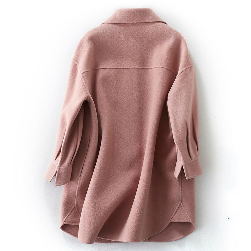 Automne Pardessus Coréenne Laine Manteaux Yq1646 face Veste Ayunsue Manteau Double Femmes Printemps Rose Style Réel Femelle D'hiver q0Aww4ZB