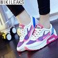 Wikileaks 2016 Novas Mulheres Plataforma Cores Misturadas Mulher Sapatos Casuais Respirável Baixo-Formadores Sapatos de Sola Grossa de salto alto Zapatos Mujer