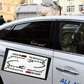 20x10 cm Red MUGEN Logo Esporte Mente Adesivo Estilo Do Carro Reflexiva Remontagem Da Janela Lateral Transparente Decal Decoração Para Honda