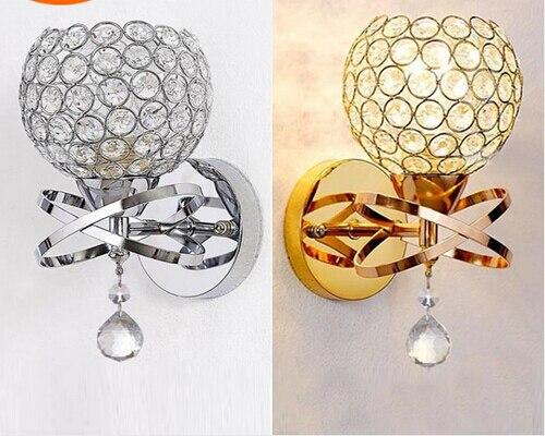 Sfera rotonda globo di cristallo applique da parete soggiorno