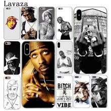 Lavaza 2Pac Tupac Amaru Shakur Hard Cover Case for Apple iPhone X XS Max XR 6 6S 7 8 Plus 5 5S SE 5C 4S 10 Phone Cases 8Plus
