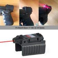 Greenbase Tactical Red Dot laser Anblick Umfang für Airsoft KWA KSC Glock 17 22 23 25 27 28 43 Pistole eisen Hinten Anblick