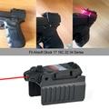 Greenbase Tactical Red Dot laser Anblick Umfang für Airsoft KWA KSC Glock 17 22 23 25 27 28 43 Pistole eisen Hinten Anblick|Laser|Sport und Unterhaltung -