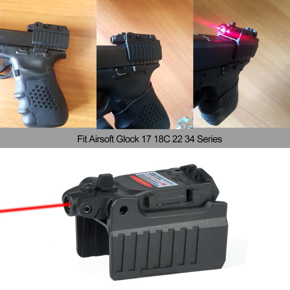 Greenbase Tactical Red Dot laser Sight Scope for Airsoft KWA KSC Glock 17 22 23 25 27 28 43 Pistol Iron Rear Sight-0