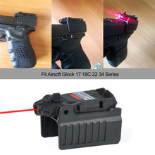 Greenbase tático red dot mira laser scope para airsoft kwa ksc glock 17 22 23 25 27 28 43 pistola de ferro vista traseira