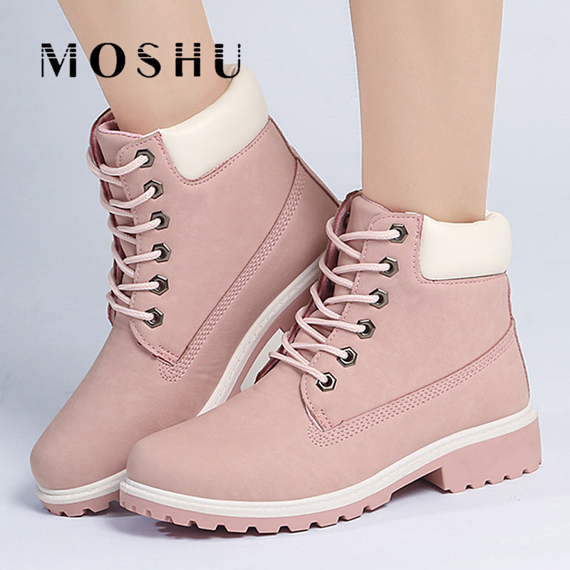 Designer Women Winter Ankle Snow Boots Female Warm Fur Plush Insole Martin Boots Fashion Lace Up Shoes For Women Botas Mujer new 2017 fashion cartoon fur female warm ankle boots women boots snow boots and autumn winter women shoes botas mujer z231