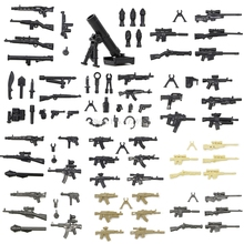 New Arrival Weapon Pack Box Military Figure Set Parts Gun MOC Legoingly Accessories SWAT Model Building Blocks Brick Kits Toys(China)